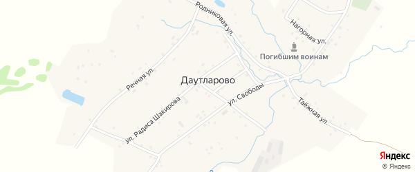 Луговая улица на карте деревни Даутларово с номерами домов