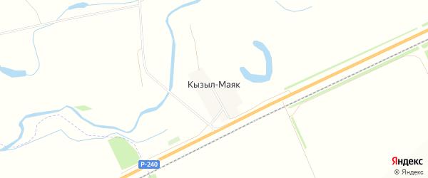 Карта деревни Кызыла-Маяка в Башкортостане с улицами и номерами домов