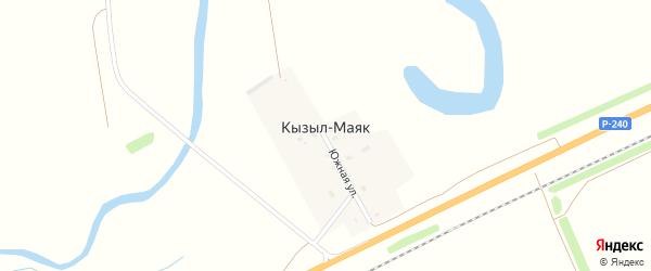 Южная улица на карте деревни Кызыла-Маяка с номерами домов