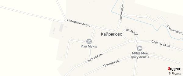 Клубная улица на карте деревни Кайраково с номерами домов