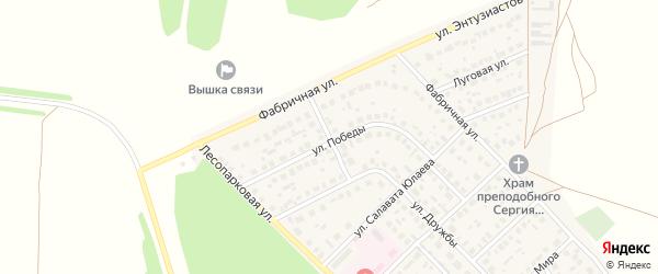 Уральский переулок на карте села Авдон с номерами домов