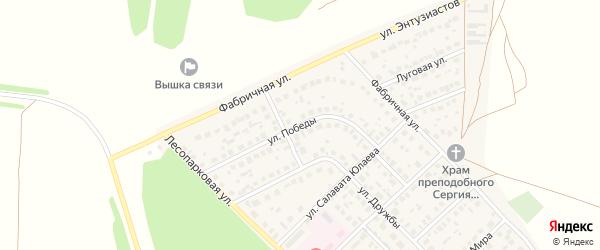 Улица Победы на карте села Авдон с номерами домов