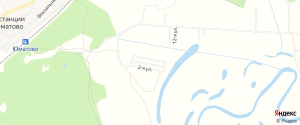 СНТ Юбилейный на карте Уфимского района с номерами домов