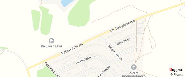 Фабричная улица на карте села Авдон с номерами домов