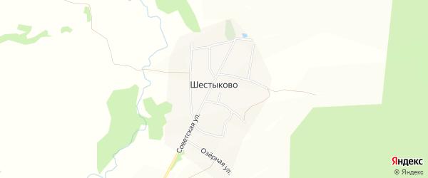 Карта села Шестыково в Башкортостане с улицами и номерами домов