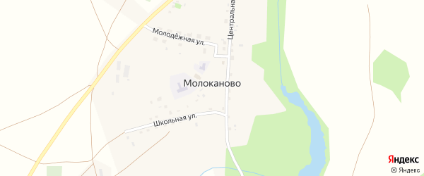 Овражная улица на карте села Молоканово с номерами домов