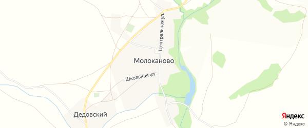 Карта села Молоканово в Башкортостане с улицами и номерами домов