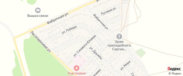 Улица Салавата Юлаева на карте села Авдон с номерами домов