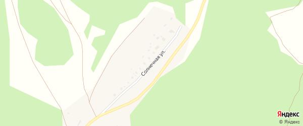 Солнечная улица на карте деревни Шабагиша с номерами домов