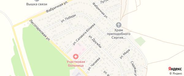 Улица Дружбы на карте села Авдон с номерами домов