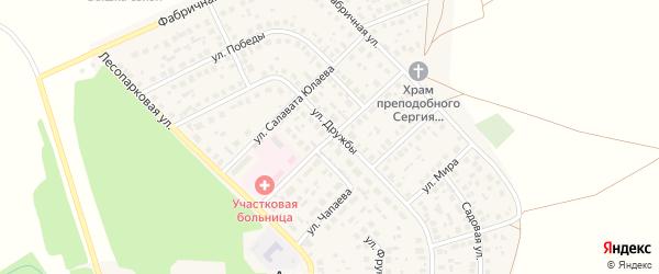 Октябрьская улица на карте села Авдон с номерами домов