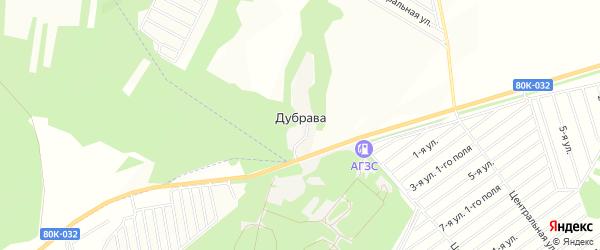 Карта деревни Дубравы в Башкортостане с улицами и номерами домов