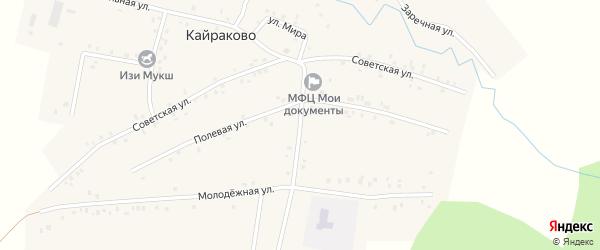 Центральная улица на карте деревни Кайраково с номерами домов