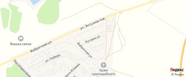 Луговая улица на карте села Авдон с номерами домов