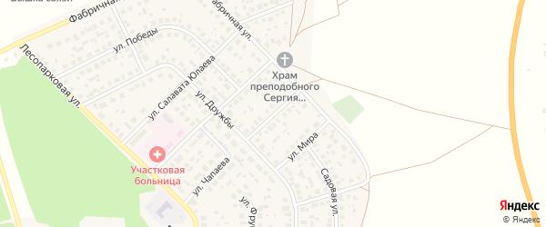 Улица Матросова на карте села Авдон с номерами домов