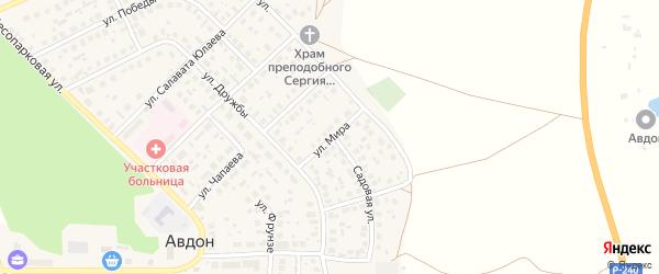 Улица Мира на карте села Авдон с номерами домов