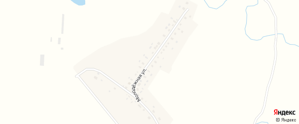 Молодежная улица на карте деревни Преображеновки с номерами домов