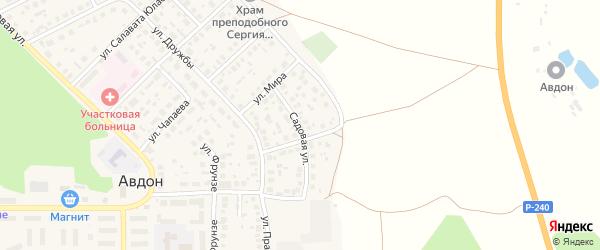 Садовая улица на карте села Авдон с номерами домов