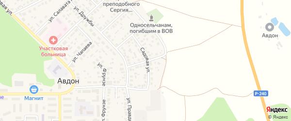 Первомайская улица на карте села Авдон с номерами домов