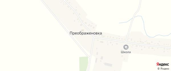 Стерлибашевский тракт на карте деревни Преображеновки с номерами домов
