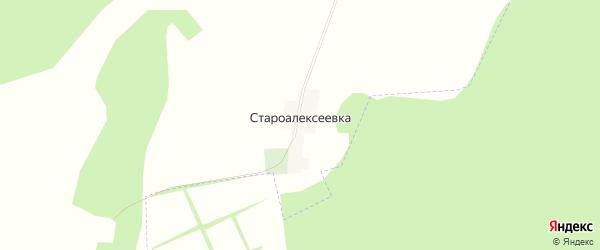 Карта деревни Староалексеевки в Башкортостане с улицами и номерами домов
