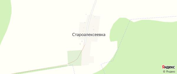 Лесная улица на карте деревни Староалексеевки с номерами домов