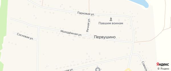 Молодёжная улица на карте села Первушино с номерами домов