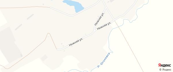 Нижняя улица на карте села Осиновки с номерами домов