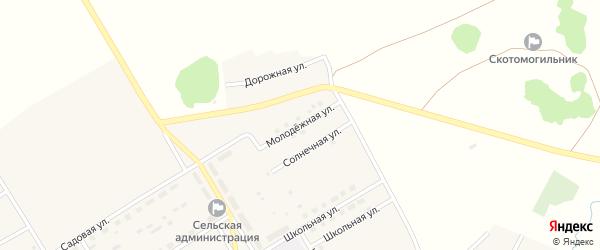 Молодежная улица на карте села Осиновки с номерами домов