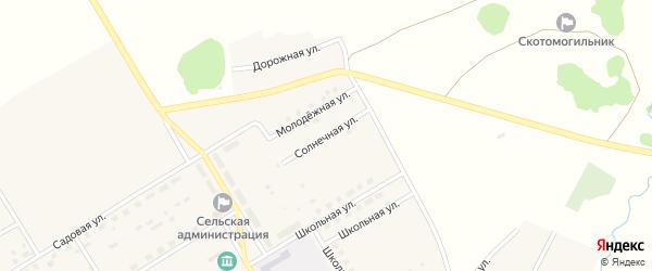 Солнечная улица на карте села Осиновки с номерами домов