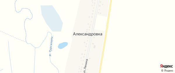 Улица Ленина на карте деревни Александровки с номерами домов