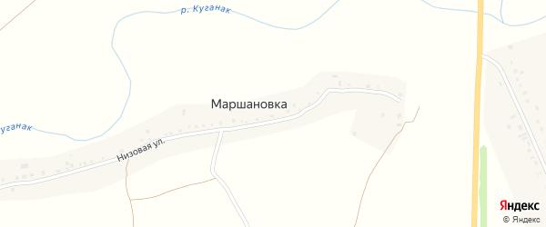 Речная улица на карте деревни Маршановки с номерами домов