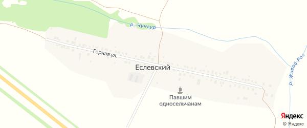 Горная улица на карте деревни Еслевского с номерами домов