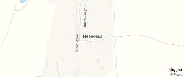 Садовый переулок на карте Ивановского поселка с номерами домов