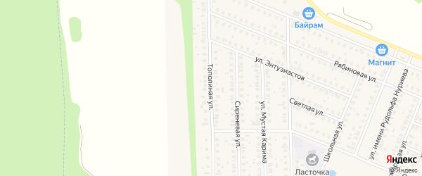 Тополиная улица на карте села Жуково с номерами домов