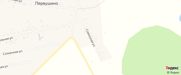 Совхозная улица на карте села Первушино с номерами домов