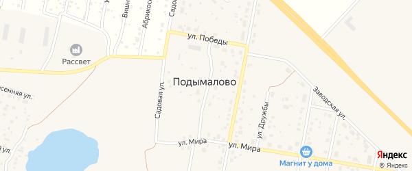 Лазурная улица на карте деревни Подымалово с номерами домов