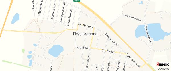 Карта деревни Подымалово в Башкортостане с улицами и номерами домов