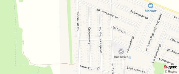 Сиреневая улица на карте села Жуково с номерами домов