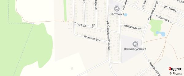 Ягодная улица на карте села Жуково с номерами домов
