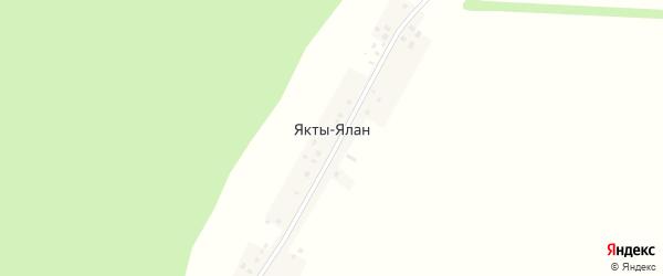 Полевая улица на карте деревни Яктов-Ялан с номерами домов