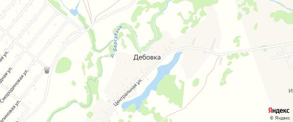 Центральная улица на карте деревни Дебовки с номерами домов