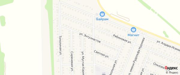 Улица Энтузиастов на карте села Жуково с номерами домов