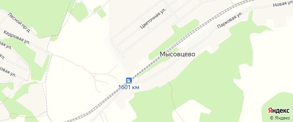 СНТ Локомотив-19 на карте села Жуково с номерами домов
