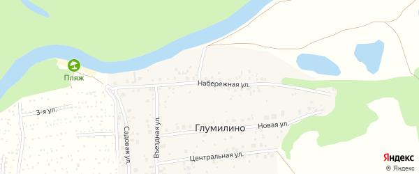 Въездная улица на карте деревни Глумилино с номерами домов