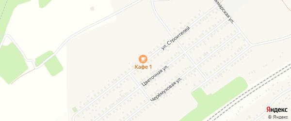 Улица Строителей на карте села Жуково с номерами домов