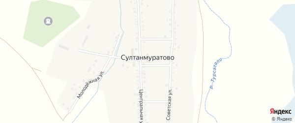 Советская улица на карте села Султанмуратово с номерами домов