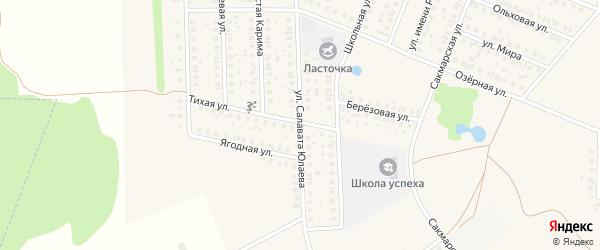 Улица Салавата Юлаева на карте села Жуково с номерами домов