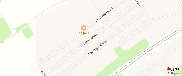 Цветочная улица на карте села Жуково с номерами домов