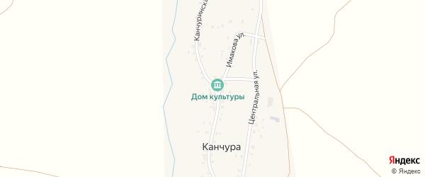 Канчуринская улица на карте деревни Канчуры с номерами домов